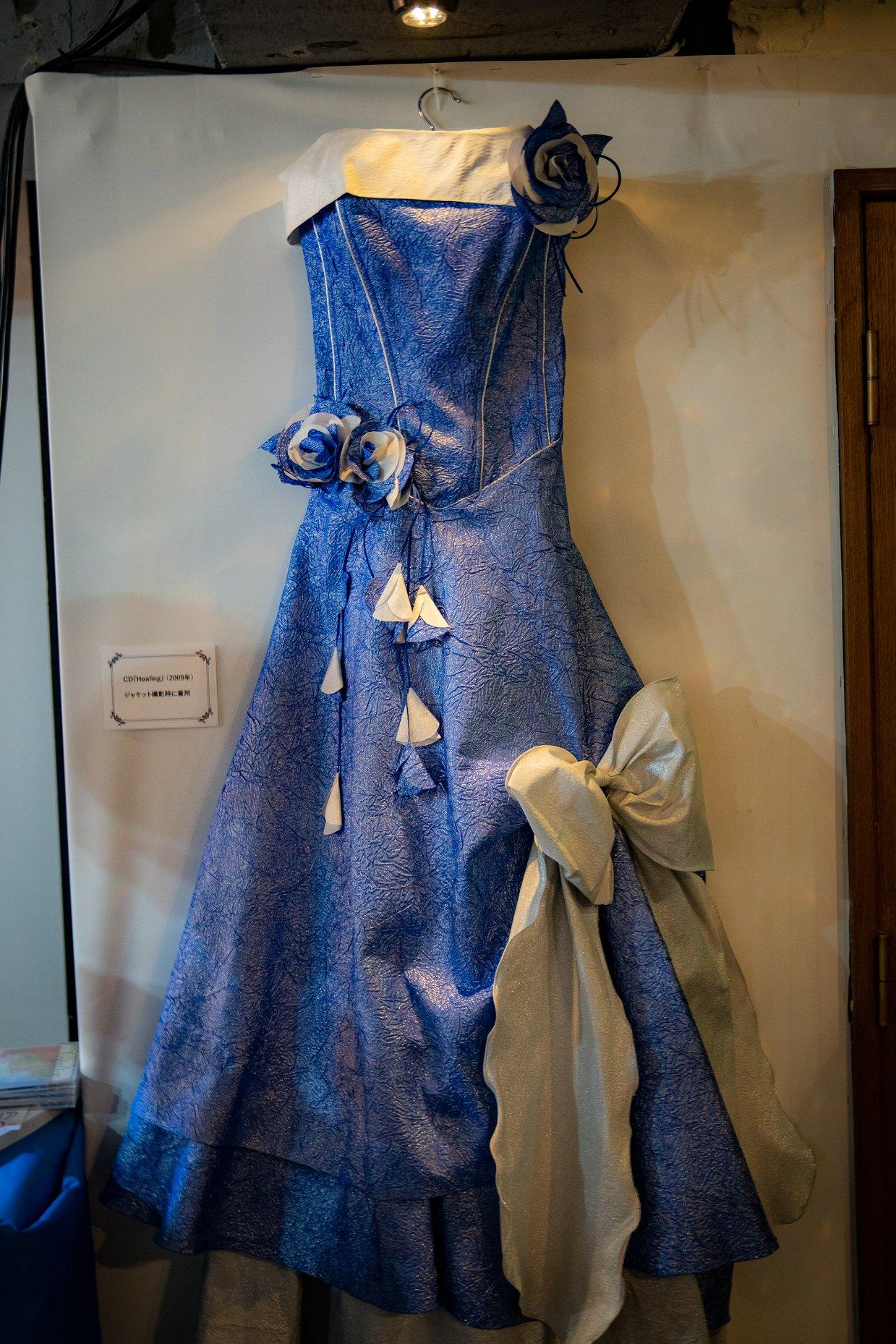 CD『Healing』ジャケット撮影時に着用のドレス