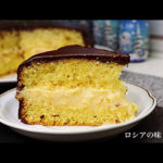"""ケーキの作り方 """"チャロデーイカ"""" 。[ビスケット、カスタード、チョコレート]"""
