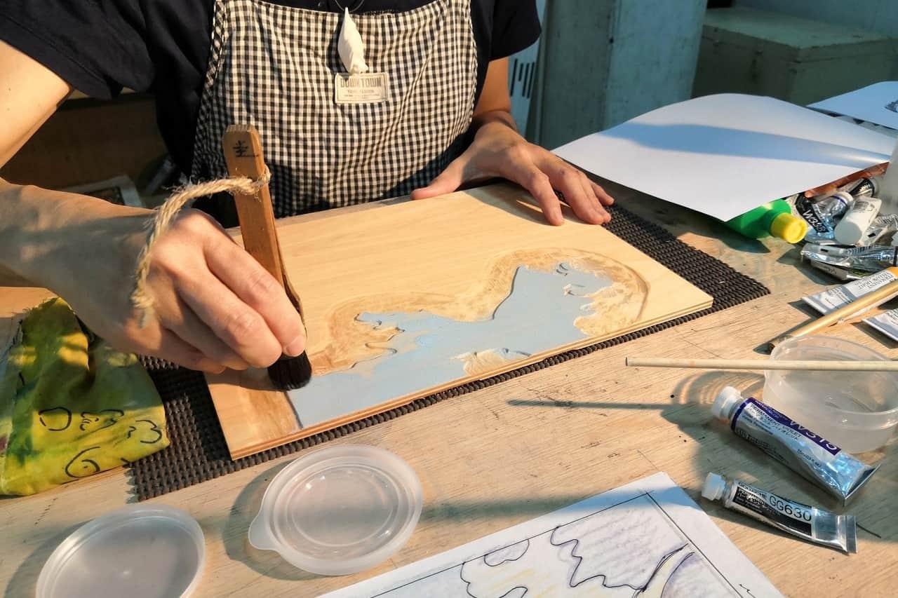 木版画家 小林圭子さん 木版画の製作過程